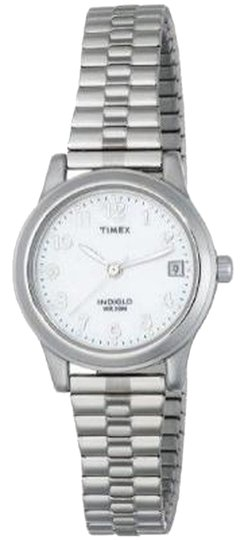 Timex Timex T2M826 Women's Silver Analog Watch With Mother of Pearl Dial