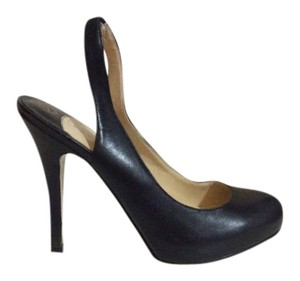 Ivanka Trump Slingback Leather Closed Toe Black Pumps
