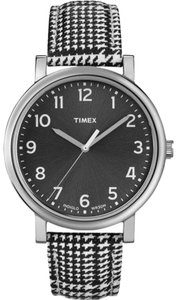 Timex Timex T2N923 Women's Silver Analog Watch With Black Dial
