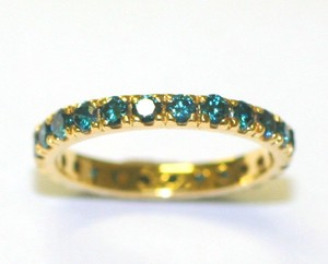 Green Diamoind Eternity Band