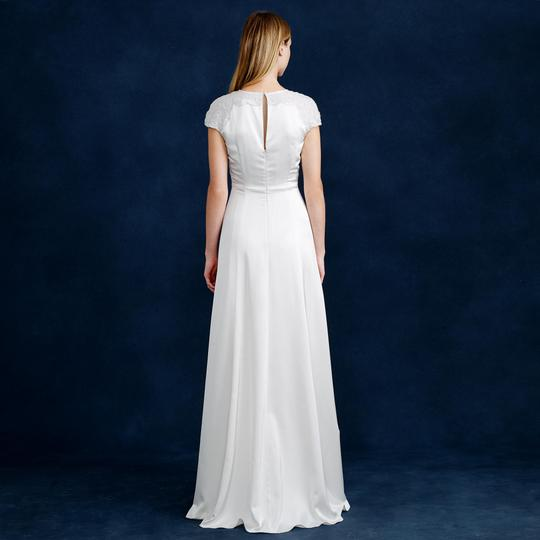 J.Crew Ivory Brookes Wedding Dress Size 4 (S)