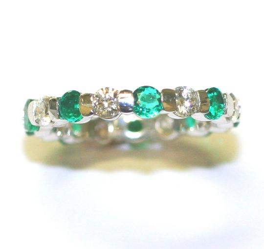 Emerald Bridal White Green Special Gift For Holiday's Eternity Women's Wedding Band