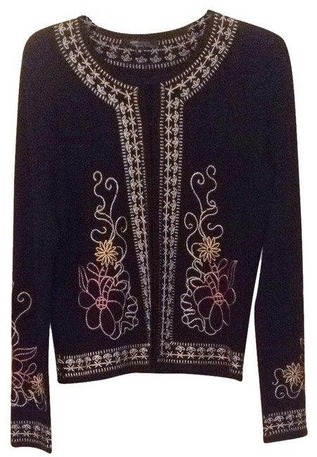 Preload https://item5.tradesy.com/images/bcbgmaxazria-black-with-multi-accents-cardigan-size-8-m-4546309-0-0.jpg?width=400&height=650