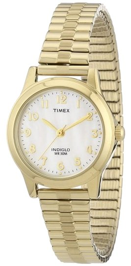 Timex Timex T2M827 Men's Gold Analog Watch With Mother of Pearl Dial