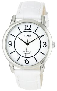 Timex Timex T2N685 Women's Silver Analog Watch With White Dial