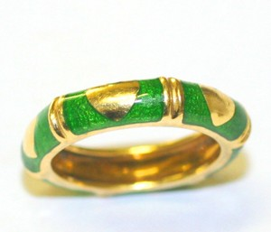 Green Enemal Ring