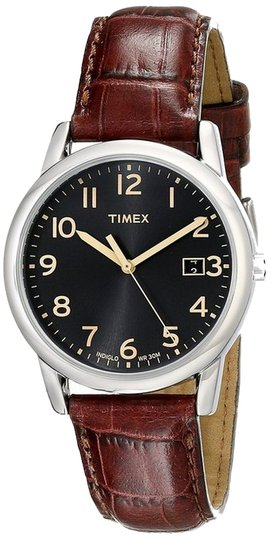 Timex Timex T2N948 Men's Silver Analog Watch With Black Dial