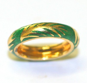 Ella Bridals Green Enamel Band