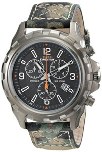 Timex Timex T49987 Men's Silver Analog Watch With Black Dial