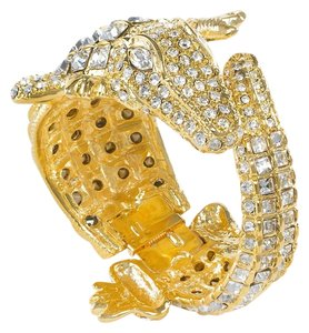 Kenneth Jay Lane Kenneth Jay Lane Crystal Alligator Bracelet