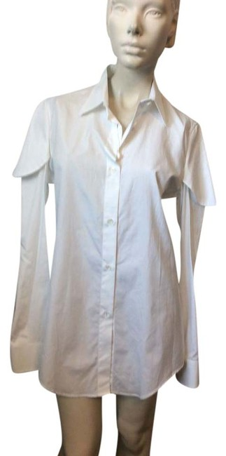 Item - White Funky Blouse Button-down Top Size 8 (M)