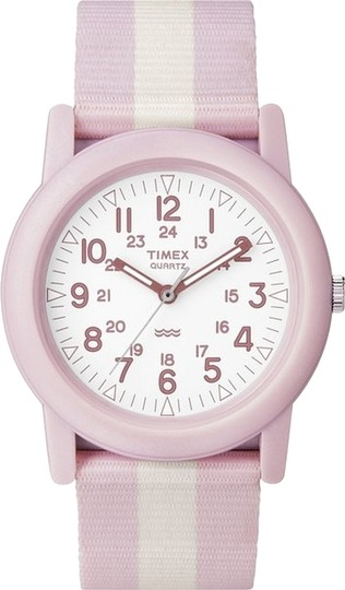 Timex Timex T2N258 Unisex Pink Analog Watch With White Dial