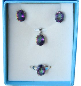 OVAL RING, PENDANT & EARRING SET - MYSTIC QUARTZ