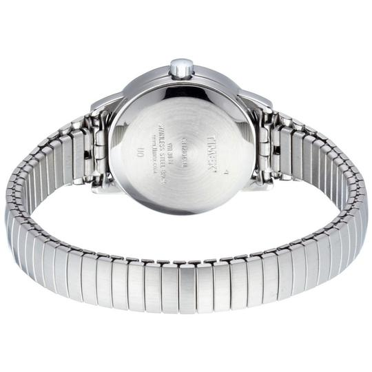 """Timex """"Timex T2H371 Women's Silver Analog Watch With White Dial """""""