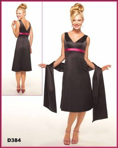 Venus Bridal Black / Fuschia Bella Maids Style D384 Dress