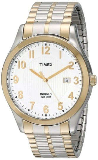 Timex Timex T2N851 Men's Two-Tone Analog Watch With White Dial