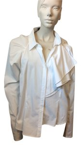 Christian Siriano Button Down Shirt White