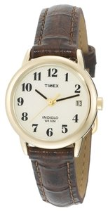 Timex Timex T20071 Women's Gold Analog Watch With Beige Dial