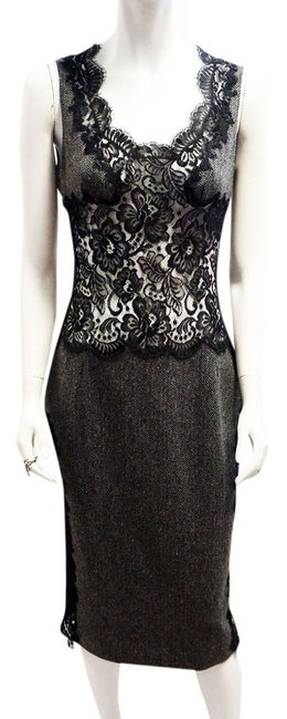 Dolce&Gabbana Dolce & Gabbana Herringbone Wool Dress