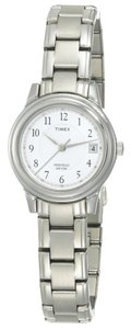 Timex Timex T29271 Women's Silver Analog Watch With White Dial