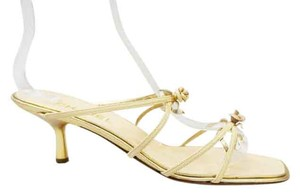 Chanel New Rose Bud Nude Gold Sandals