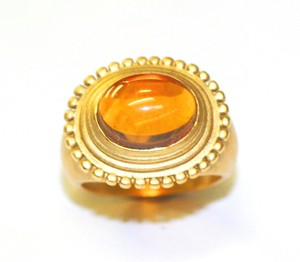 Yellow Topaz Ring