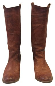 Frye Cognac Antique Soft Full Grain Boots