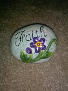 Multicolor Faith Plastic Rock Other