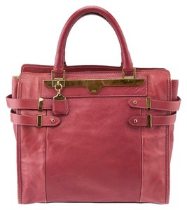 Chloé Shelb Large Leather Tote in Dark Pink