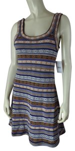 Free People short dress Multicolor Nordic Print New With Tags Small Acrylic Wool Blend Thin Knit Sweater Knit Pullover Stretchy Sleeveless on Tradesy