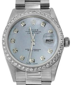 Rolex ROLEX DATEJUST 36MM DIAMOND WATCH WITH ROLEX BOX & APPRAISAL