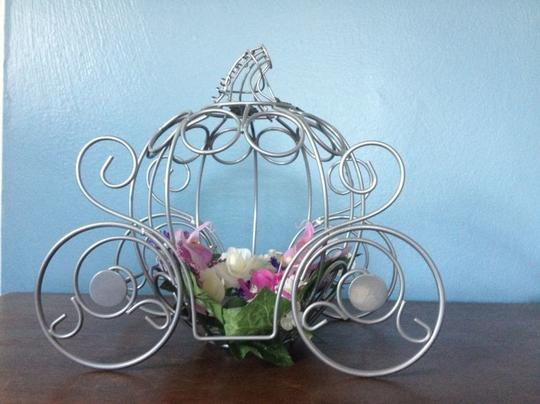 Silver Carriage Centerpiece