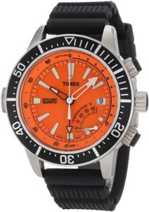 Guess Guess T2N812 Men's Silver Analog Watch With Orange Dial