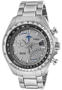 Guess Guess T2P104 Men's Silver Analog Watch With Silver Dial