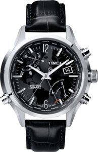 Guess Guess T2N943 Men's Silver Analog Watch With Black Dial
