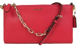 Coach Saffiano Leather Madison Cross Body Bag