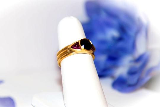 Ella Bridals Yellow Pink Tuormaline Sapphire Gold Ring Image 2