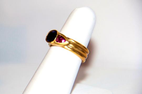 Ella Bridals Yellow Pink Tuormaline Sapphire Gold Ring Image 3