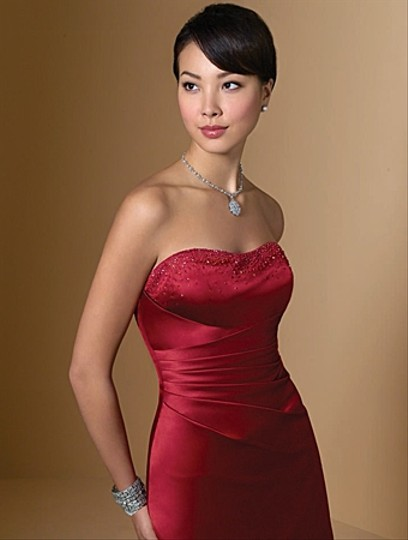 Alfred Angelo Claret Style 7027 Dress