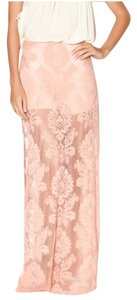 Honey Punch Lace Maxi Skirt Desert Rose Pink