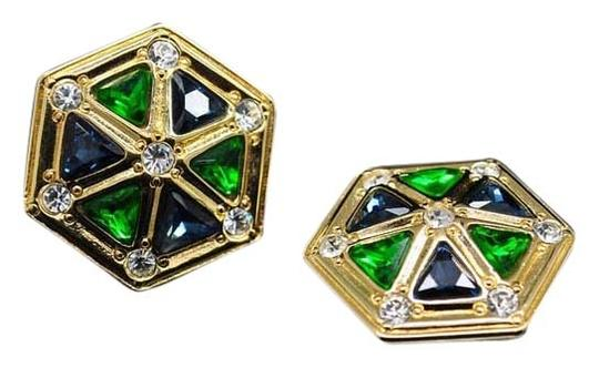 Dior Authentic Christian Dior Vintage Ultra Rare Hexagonal Germany Clip Earrings