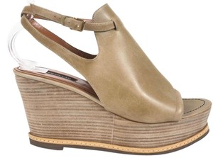 Derek Lam Clogs New Leather Tan Wedges
