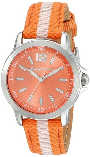 Tommy Bahama Tommy Bahama 10018371 Women's Silver Analog Watch With Orange Dial