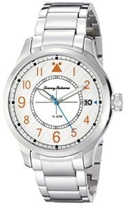 Tommy Bahama Tommy Bahama 10022437 Men's Silver Analog Watch With Silver Dial