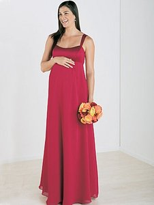 Alfred Angelo Claret Chiffon / Satin Style 6334m Modern Bridesmaid/Mob Dress Size 12 (L)
