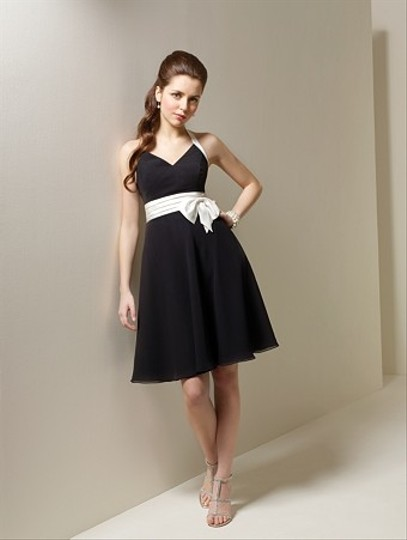 Alfred Angelo Black / White Style 7063 Dress