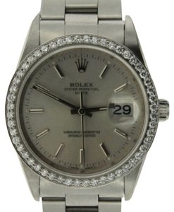 Rolex ROLEX DATE 34MM STAINLESS STEEL WATCH
