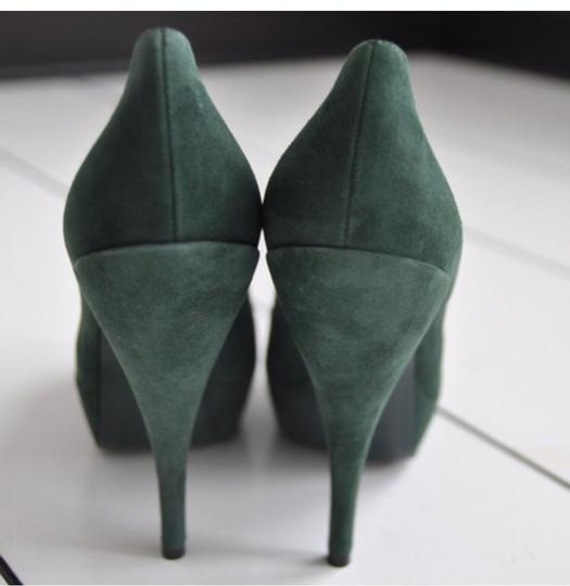 Saint Laurent Suede Ysl Gucci Emerald Green Pumps
