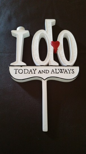 Lillian Rose White I Do Today and Always Cake Topper