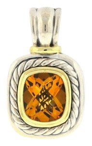 David Yurman David Yurman Albion Enhancer Citrine Extra Large Pendant